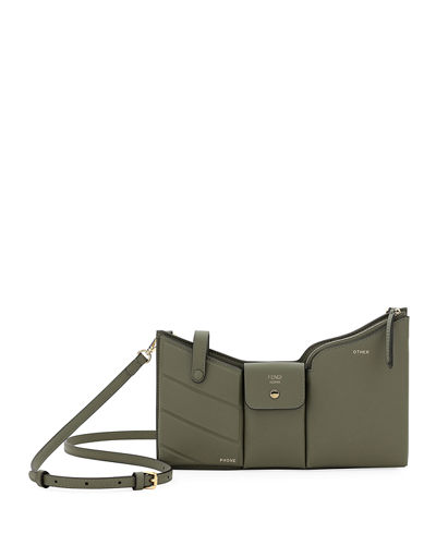 Bustine Three-Pocket Century Calf Crossbody Bag