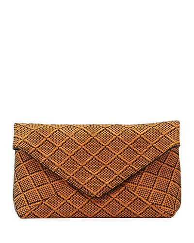 Patterned Envelope Clutch Bag