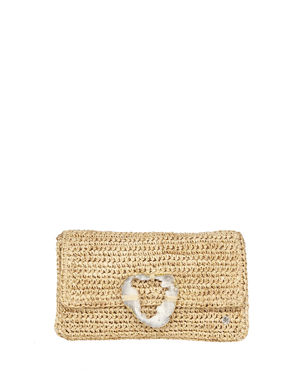 Flora Bella Esplendor Raffia Metallic Clutch Bag 840446ab6a49