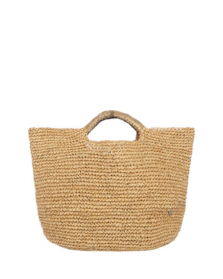 Flora Bella Napa Lux Metallic Raffia Small Beach Tote