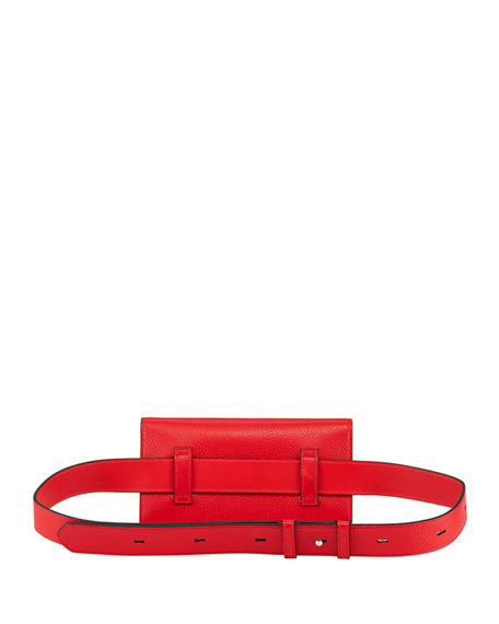 Image 3 of 4: Christian Louboutin Boudoir XS Leather Belt Bag with Chain Strap
