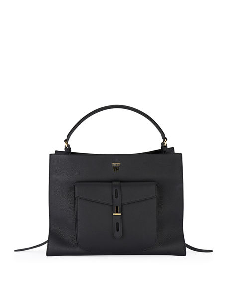 TOM FORD Rialto Grain Medium Top-Handle Bag