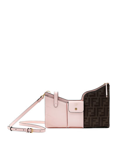 Tasche Leather and FF-Embossed Crossbody bag