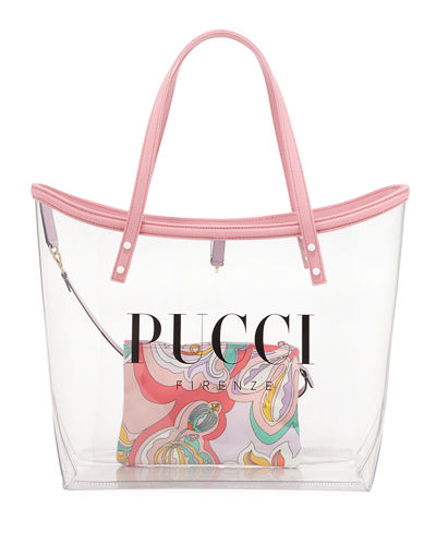Large PVC Logo Tote Bag