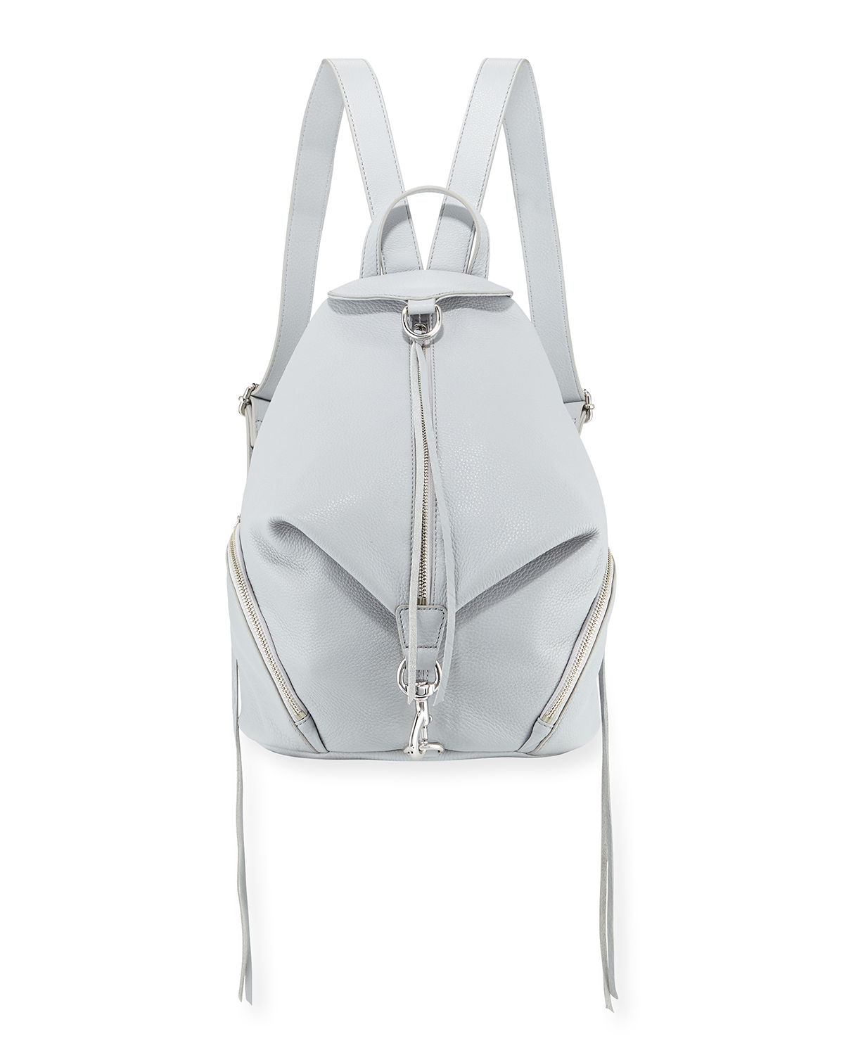Julian Vertical-Zip Leather Backpack
