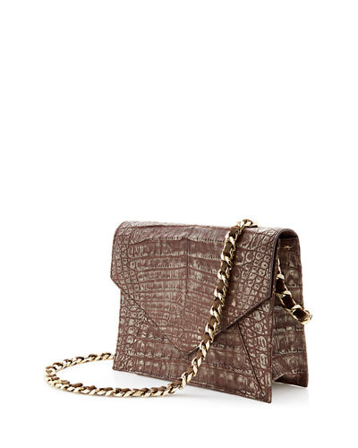 Envelope XS Cayman Crocodile Clutch Bag