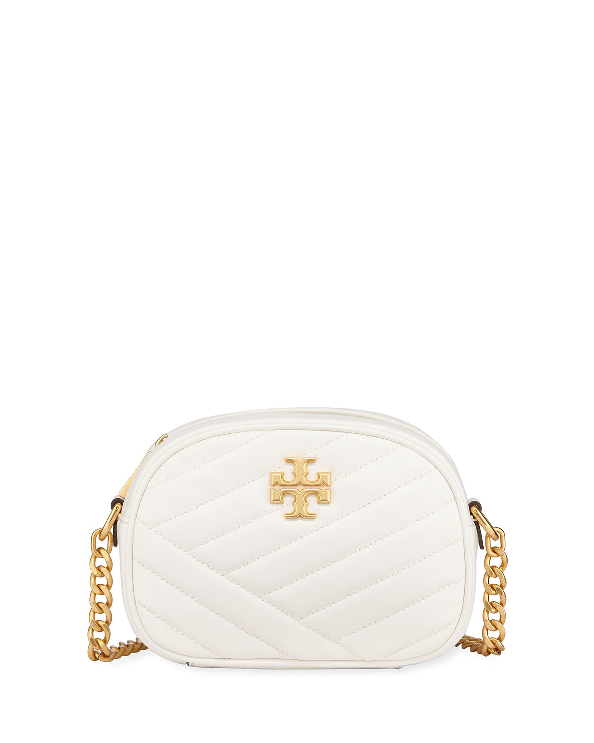 08e9033728b Tory Burch Kira Quilted Leather Xs Crossbody Bag In Ivory