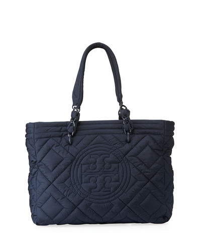 Fleming Quilted Nylon Large Tote Bag