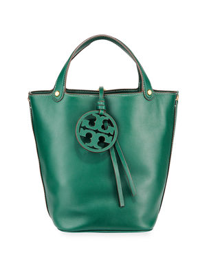 b0c630e2b Tory Burch Miller Leather Bucket Bag