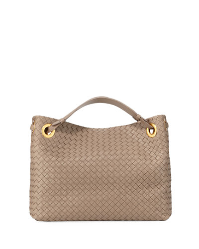 Garda Large Woven Leather Tote Bag