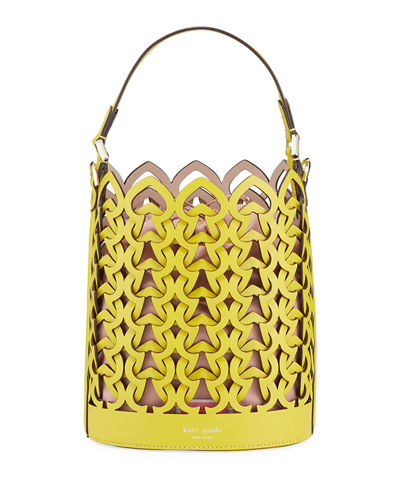 dorie small leather bucket bag