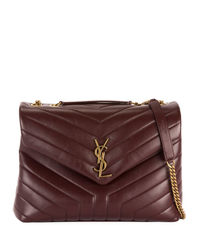 Loulou Medium YSL Monogram Y-Quilted Shoulder Bag - Golden Hardware
