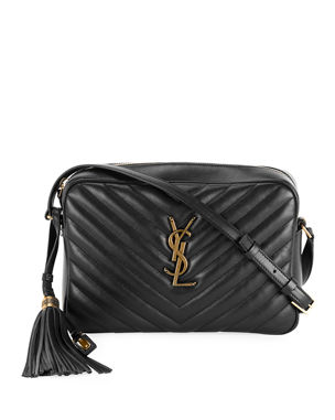 9ffa873222af Saint Laurent Lou Medium Monogram YSL Calf Crossbody Bag