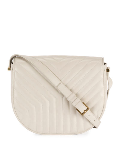 Quilted Y Satchel Shoulder Bag