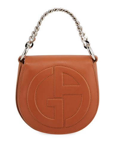 Small Leather Flap-Top Crossbody Bag