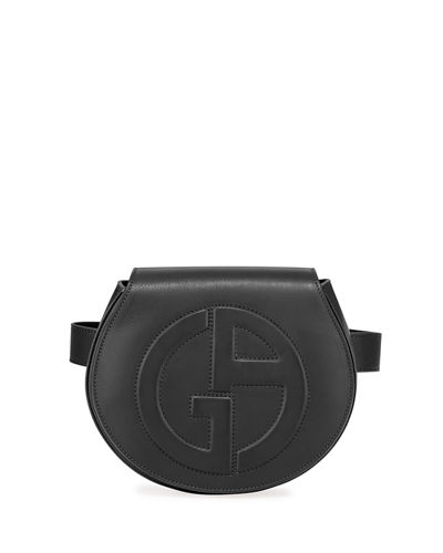 Small Leather Logo Belt Bag