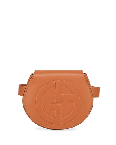 Giorgio Armani Small Leather Logo Belt Bag