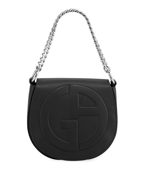 Giorgio Armani Medium Leather Flap-Top Crossbody Bag