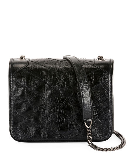 Saint Laurent Niki YSL Monogram Vintage Calfskin Wallet on Chain