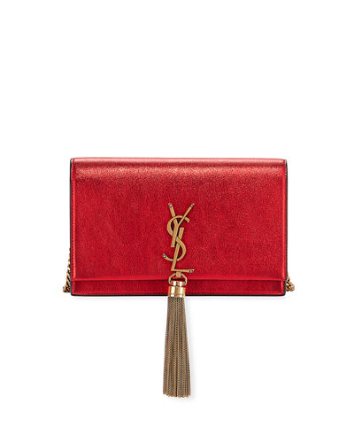 Kate YSL Monogram Metallic Wallet on Chain