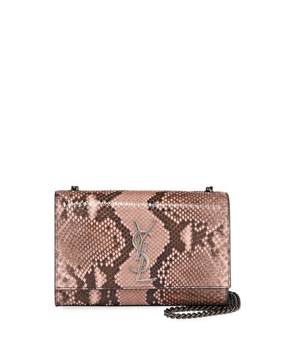 Kate New Small YSL Monogram Python Crossbody Bag