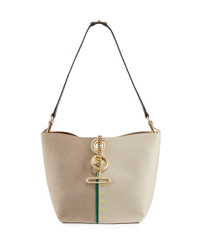Gaia Leather and Suede Shoulder Bag