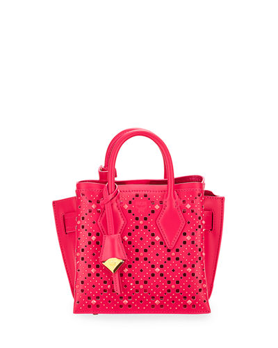Neo Milla Small Studded Leather Tote Bag