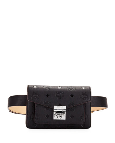 Patricia Monogrammed Leather Belt Bag