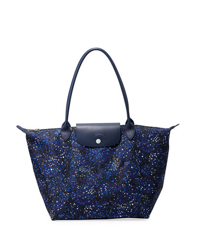 Le Pliage Fleur Large Shoulder Tote Bag