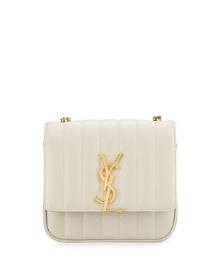 a556c26e17 Saint Laurent Vicky Small YSL Monogram Quilted Crossbody Bag