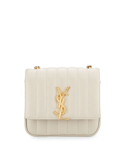 Vicky Small YSL Monogram Quilted Crossbody Bag