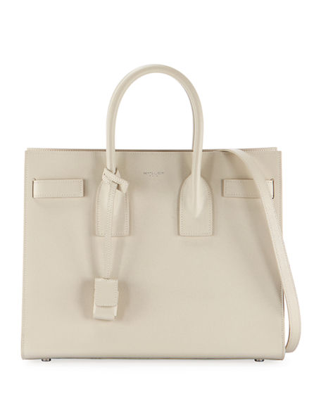 Saint Laurent Sac de Jour Small Grain de Poudre Leather Satchel Bag