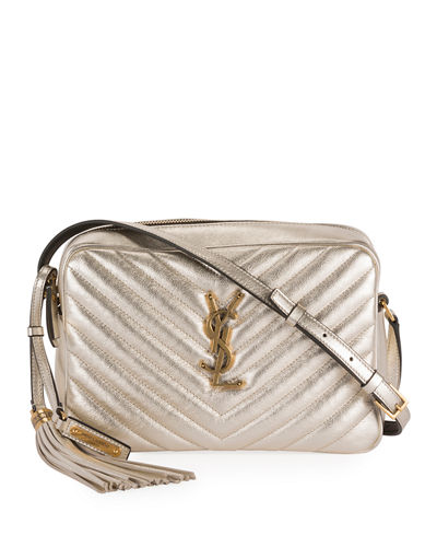 Lou Medium YSL Monogram Quilted Camera Crossbody Bag