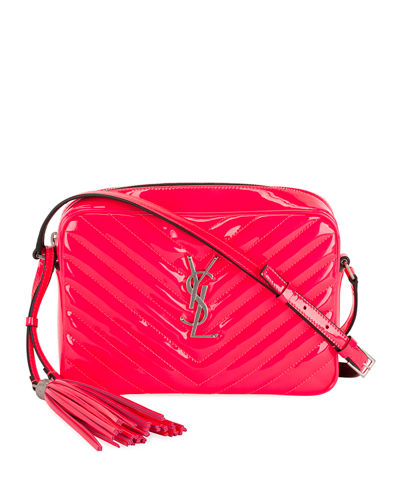 Saint Laurent Lou Monogram Quilted Camera Crossbody Bag