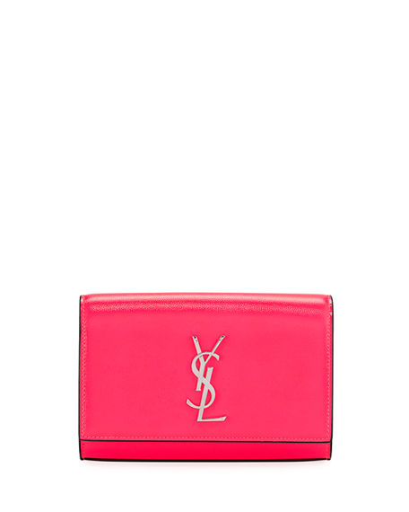 Image 1 of 5: Saint Laurent Kate YSL Monogram Neon Belt Bag