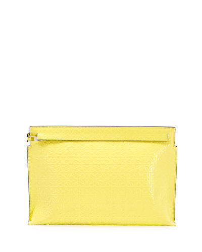 T Medium Repeat Pouch Clutch Bag