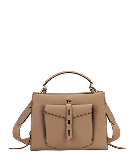 TOM FORD T Twist Small Leather Top-Handle Bag