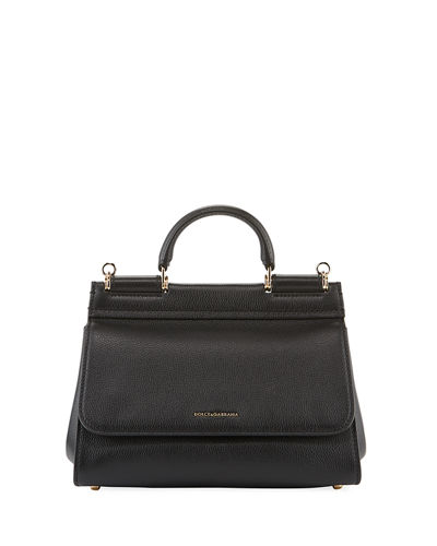 Sicily Soft Leather Top-Handle Bag