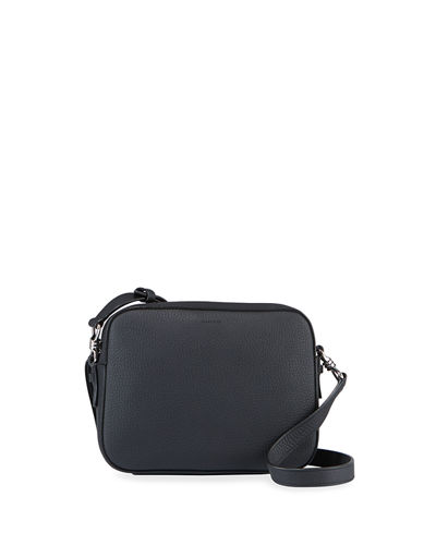Captain Square Leather Crossbody Bag