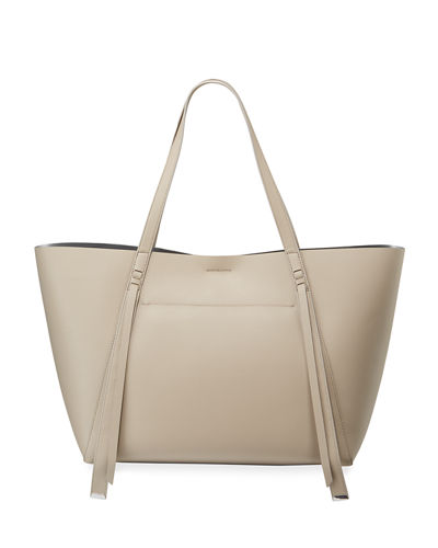 Lea Stitched Leather Tote Bag