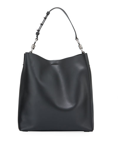 Captain North/South Leather Tote Bag