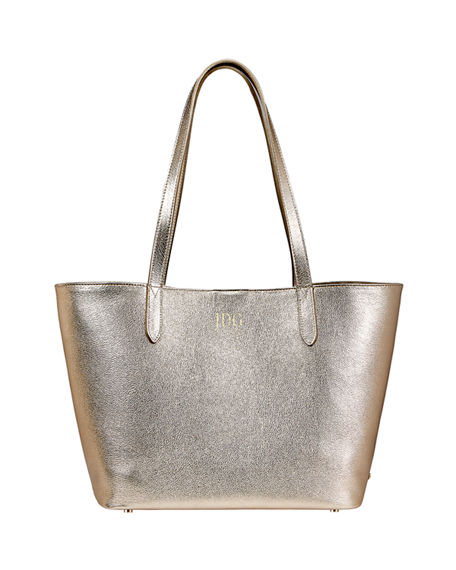 Gigi New York Teddy Metallic Tote Bag