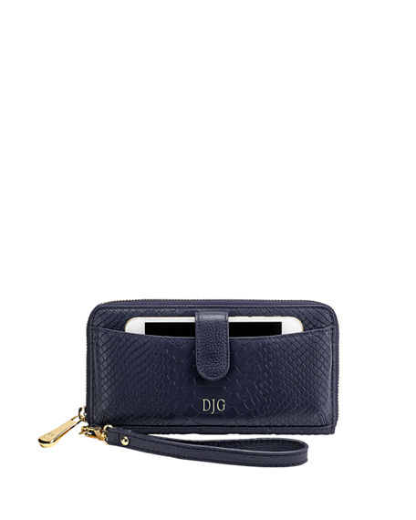 Gigi New York City Python-Embossed Continental Wallet