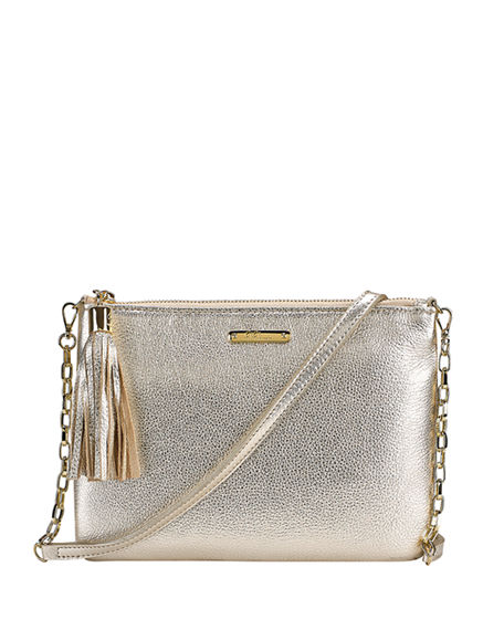 Gigi New York Chelsea Metallic Crossbody Bag