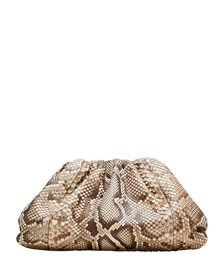 Bottega Veneta The Pouch Clutch Bag in Python