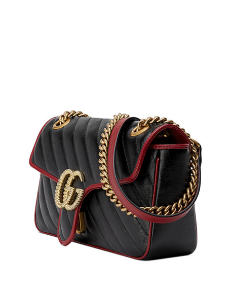 Image 3 of 4: Gucci GG Marmont 2.0 Small Shoulder Bag - Golden Hardware
