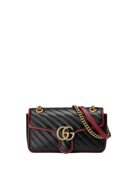 Image 1 of 4: Gucci GG Marmont 2.0 Small Shoulder Bag - Golden Hardware