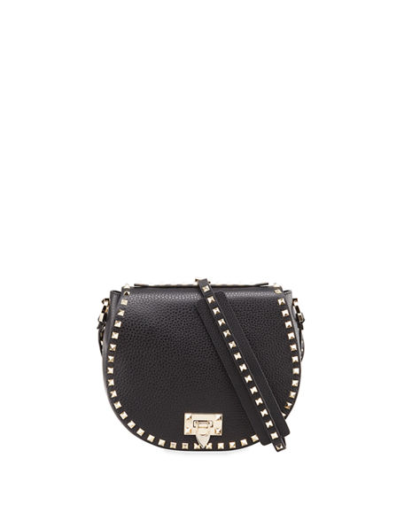 Valentino Garavani Rockstud Small Saddle Crossbody Bag