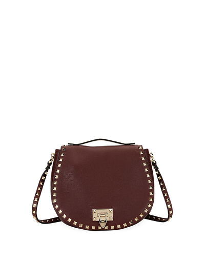 Rockstud Small Saddle Crossbody Bag