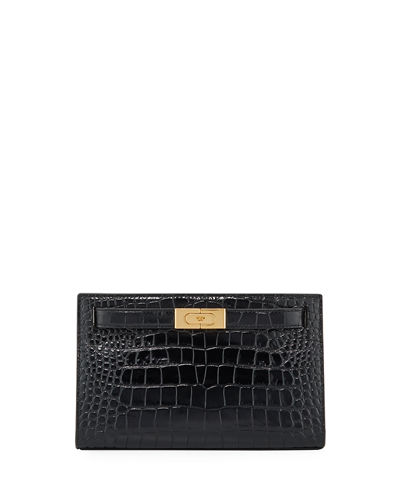 Lee Radziwill Embossed Clutch Bag